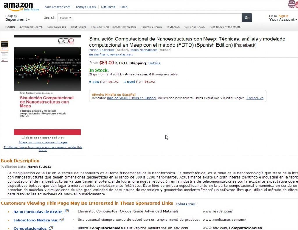 Mi libro en Amazon.com